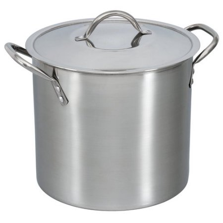 694 Mainstays 8 Quart Stock Pot With Lid Stainless Steel Free Pickup