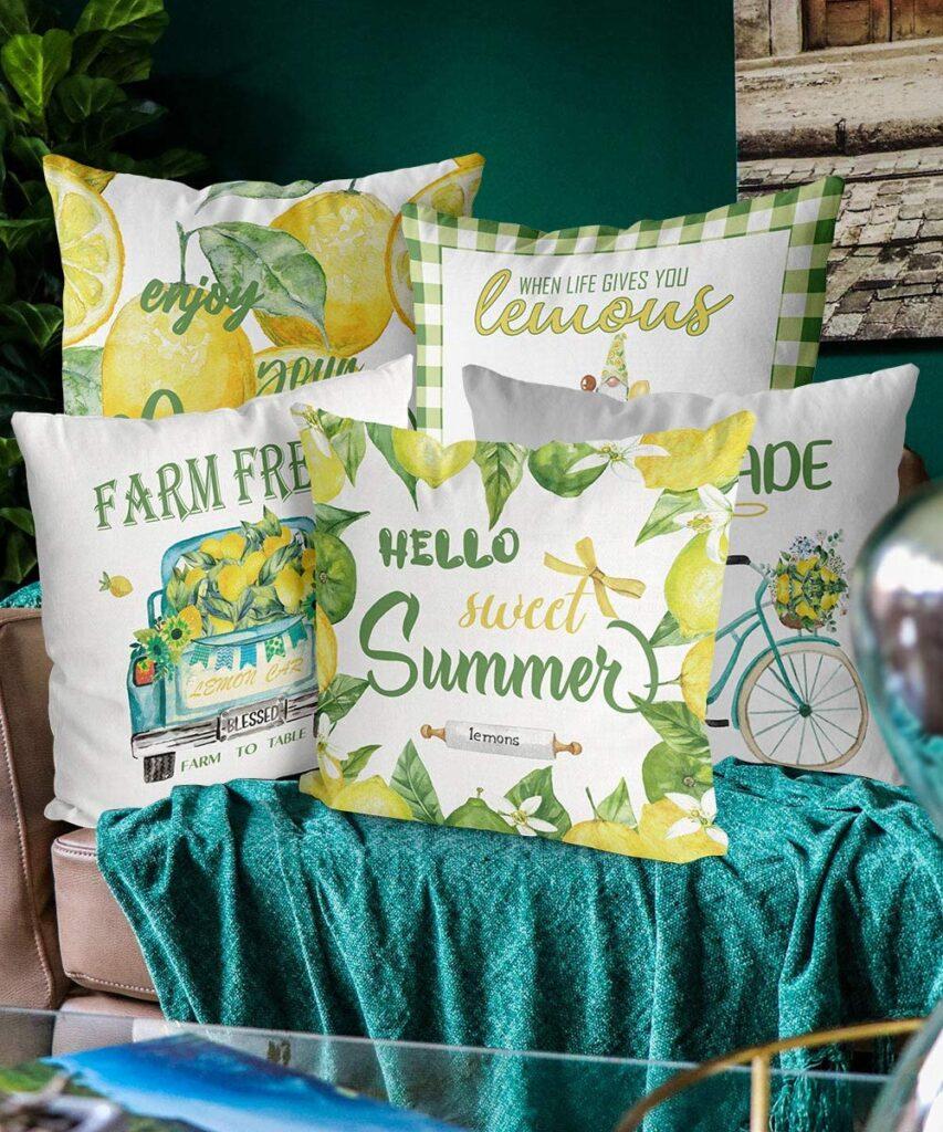 Summer pillow covers set